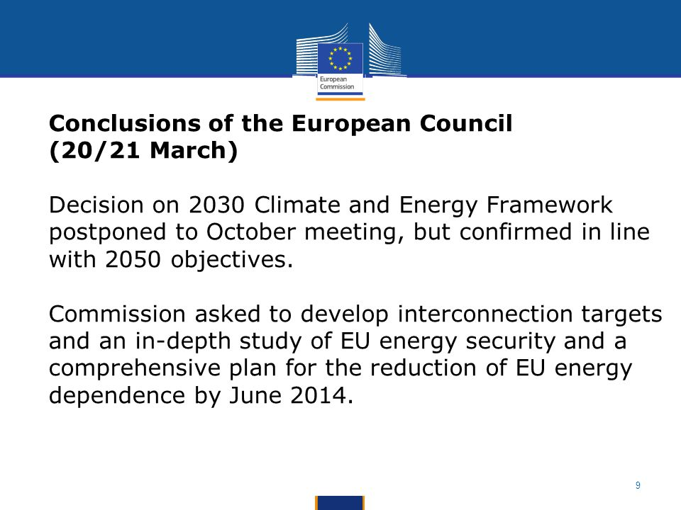 Conclusions of the European Council