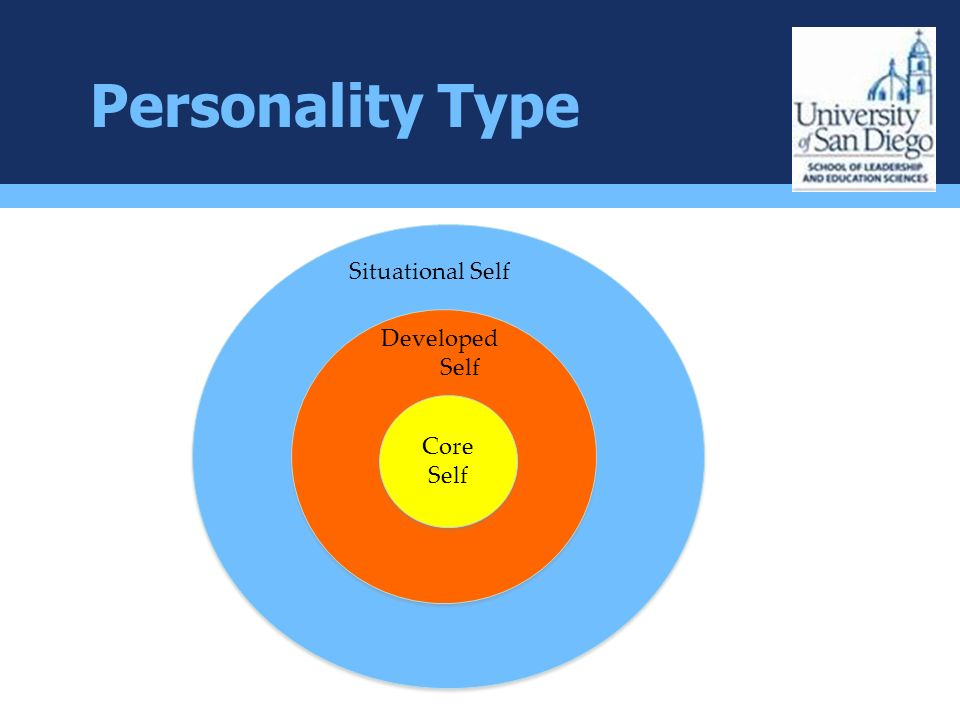 Personality Type Core Self Developed Self Situational Self