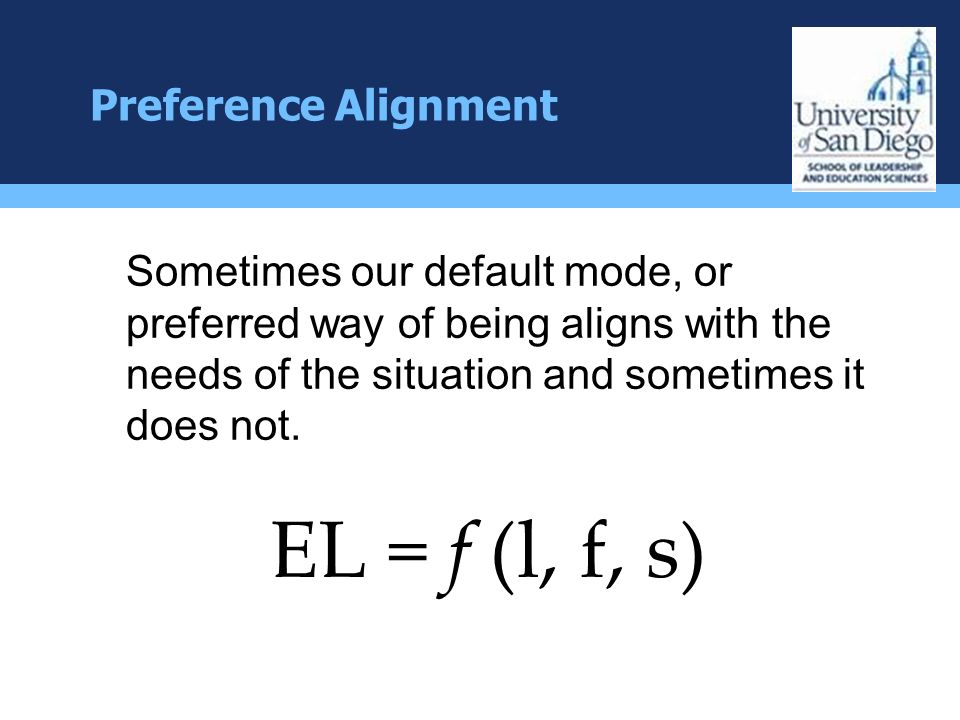 EL = f (l, f, s) Preference Alignment