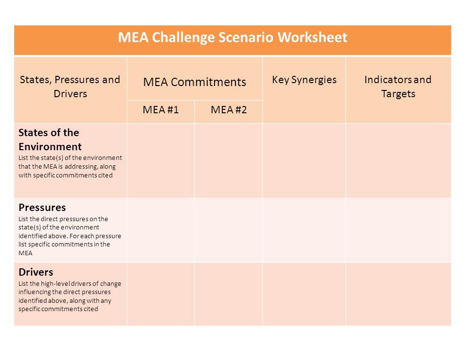 MEA Challenge Scenario Worksheet