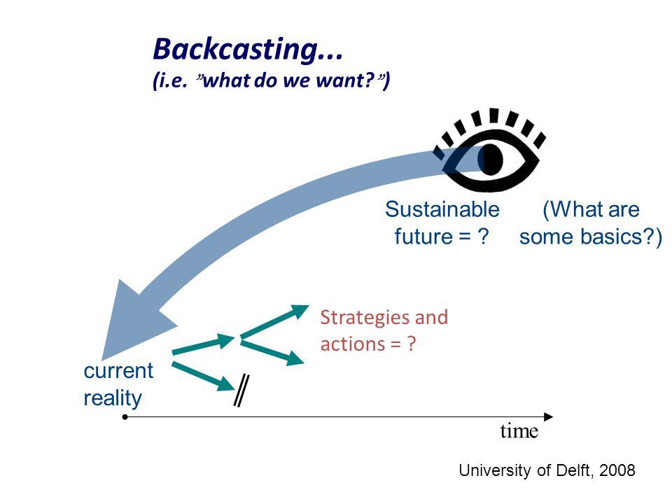 Backcasting... (i.e. what do we want )