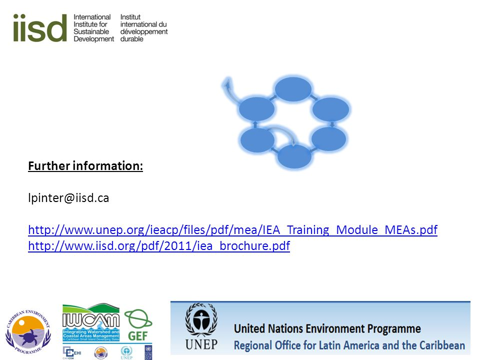 Further information: lpinter@iisd.ca. http://www.unep.org/ieacp/files/pdf/mea/IEA_Training_Module_MEAs.pdf.