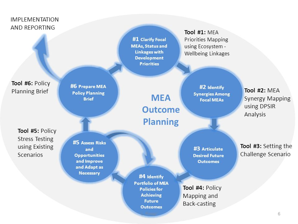 MEA Outcome Planning IMPLEMENTATION AND REPORTING