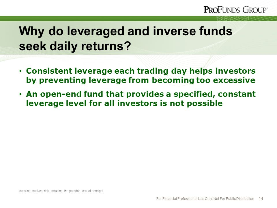 Why do leveraged and inverse funds seek daily returns