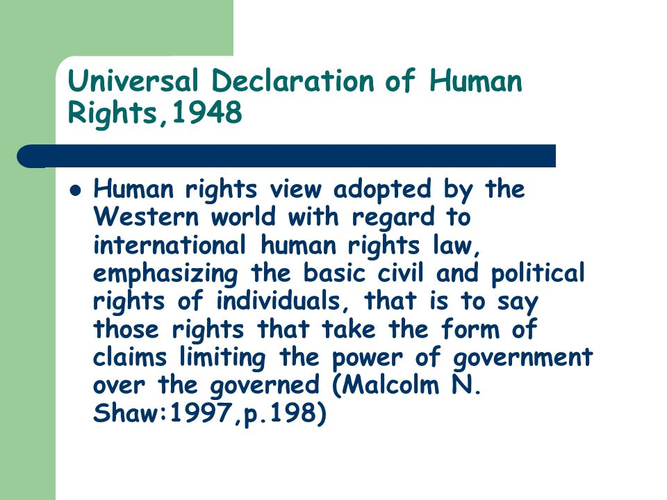 Universal Declaration of Human Rights,1948