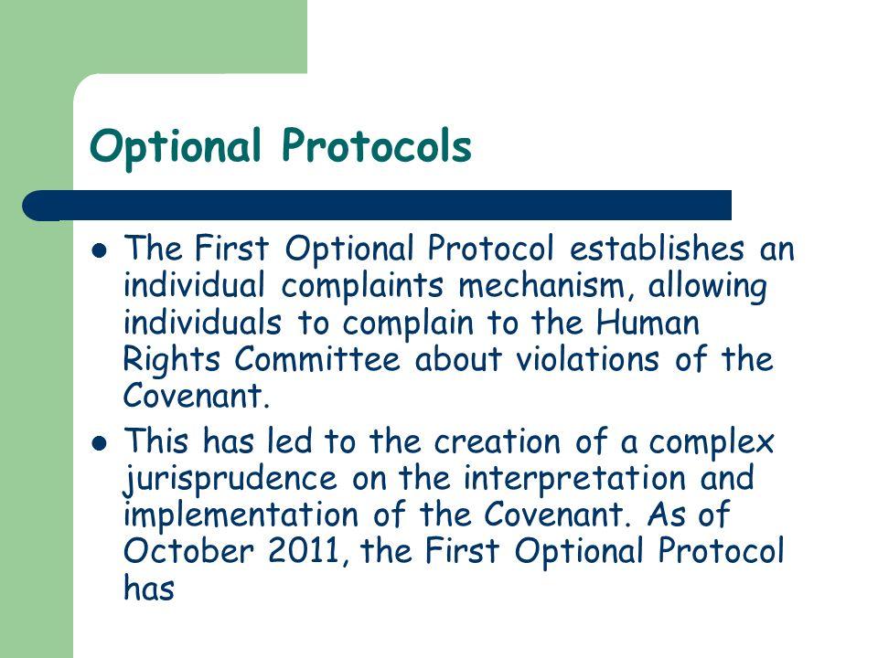Optional Protocols