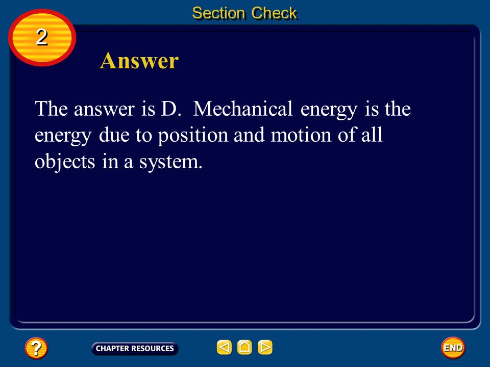 Section Check 2. Answer. The answer is D.