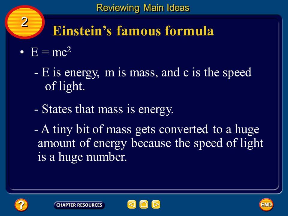 Einstein's famous formula