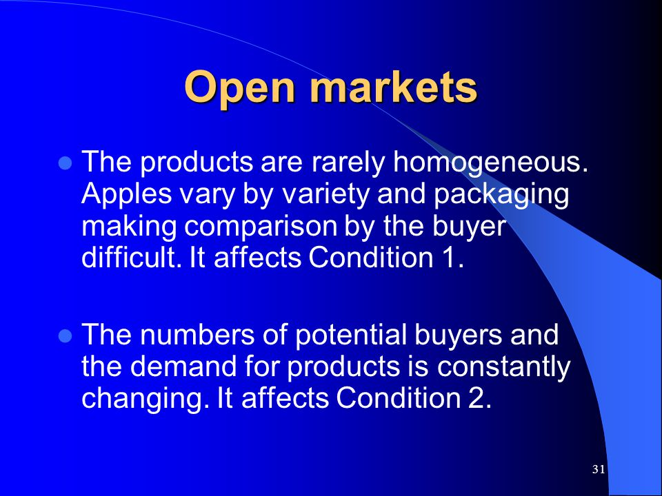 Open markets