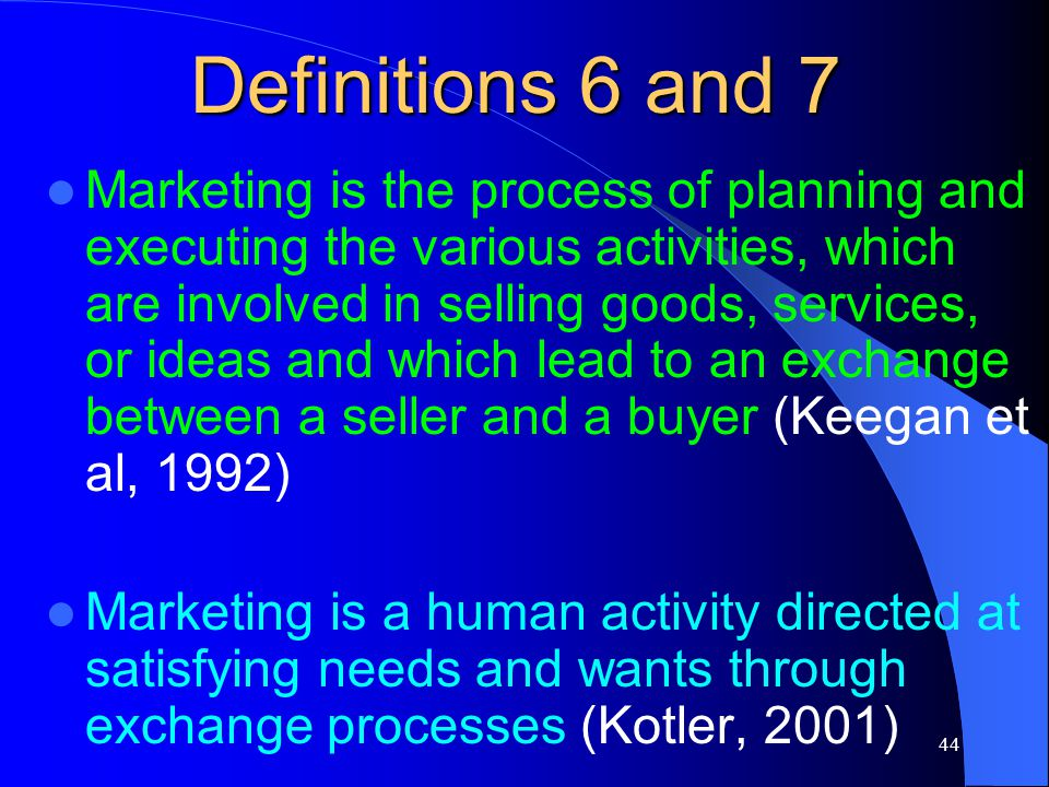 Definitions 6 and 7