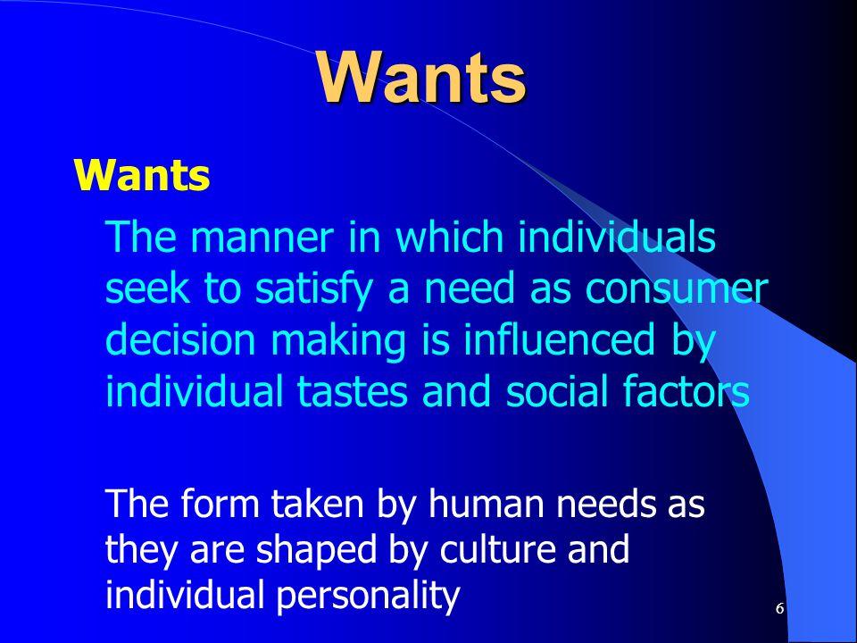 Wants Wants.