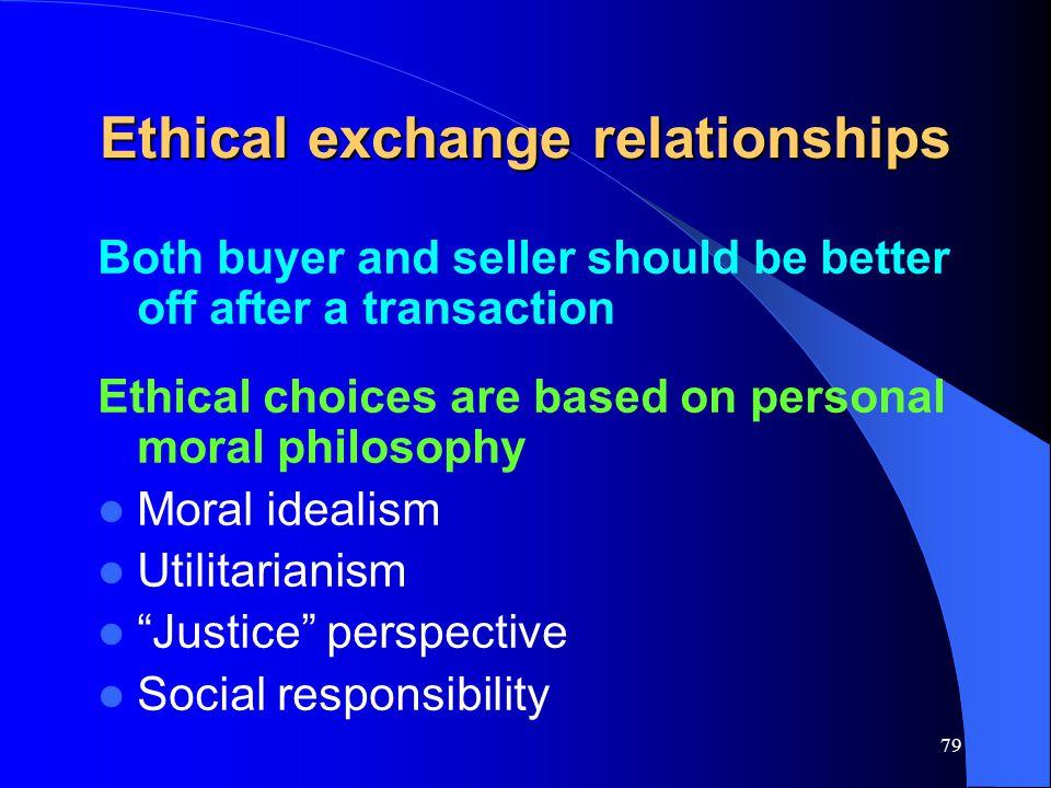 Ethical exchange relationships