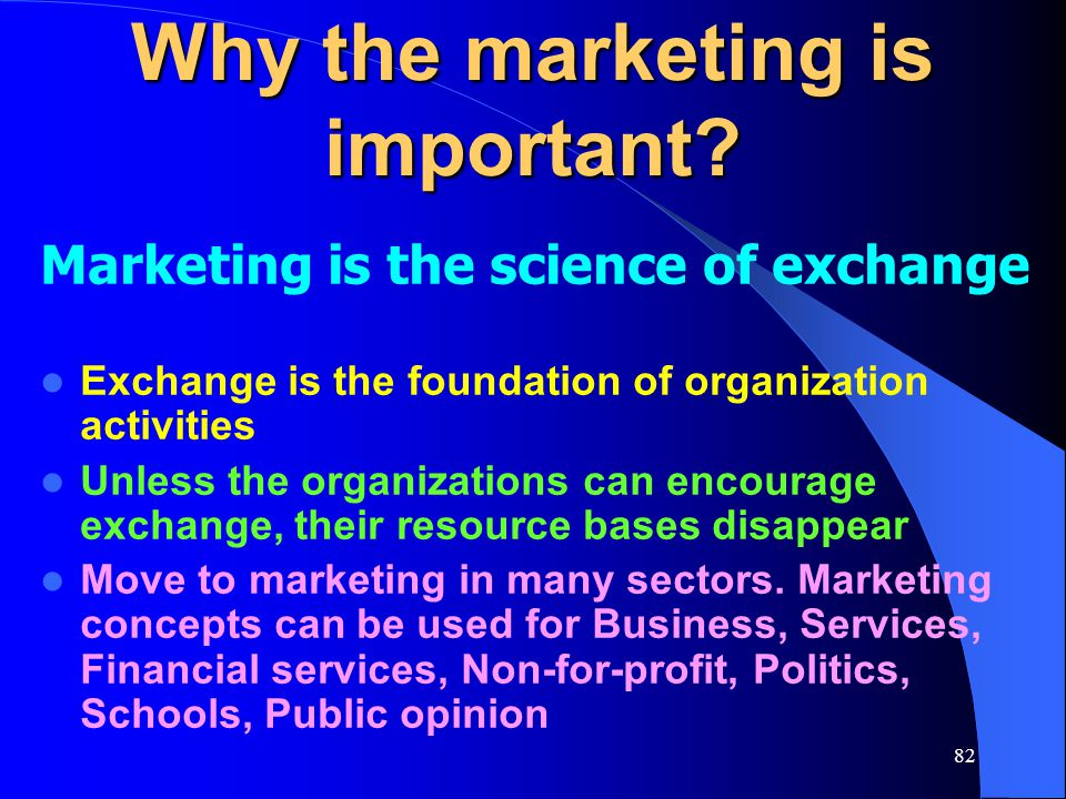 Why the marketing is important