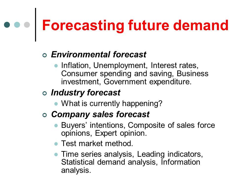 Forecasting future demand