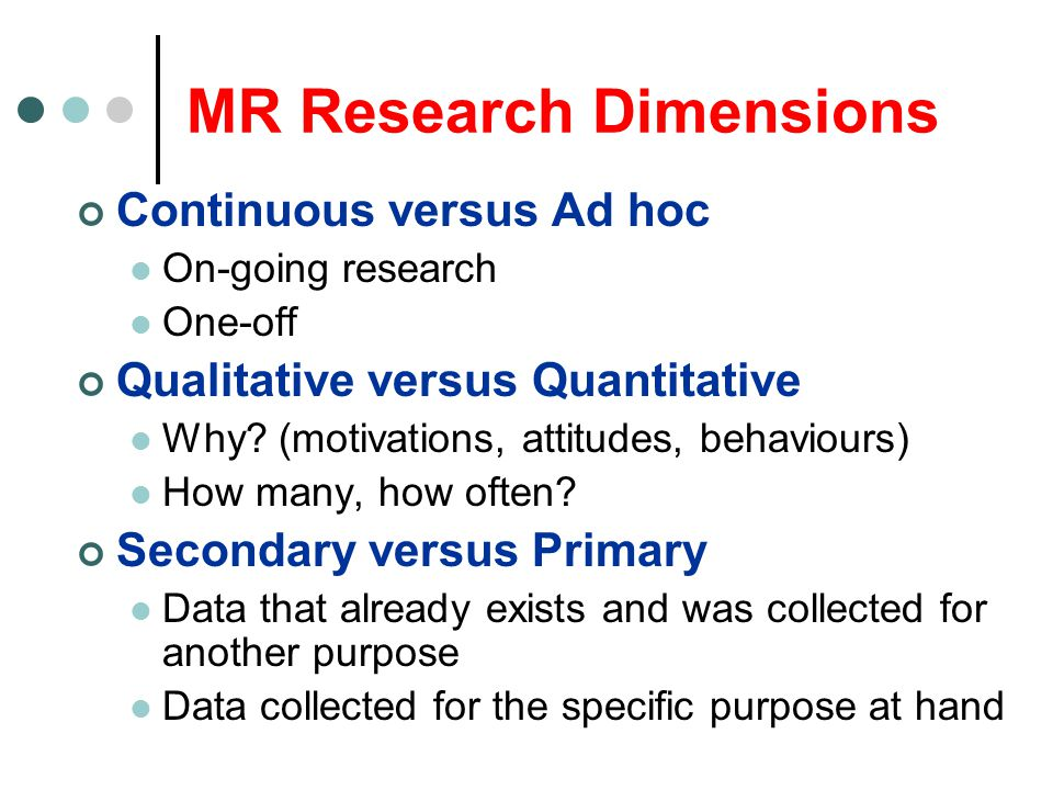 MR Research Dimensions