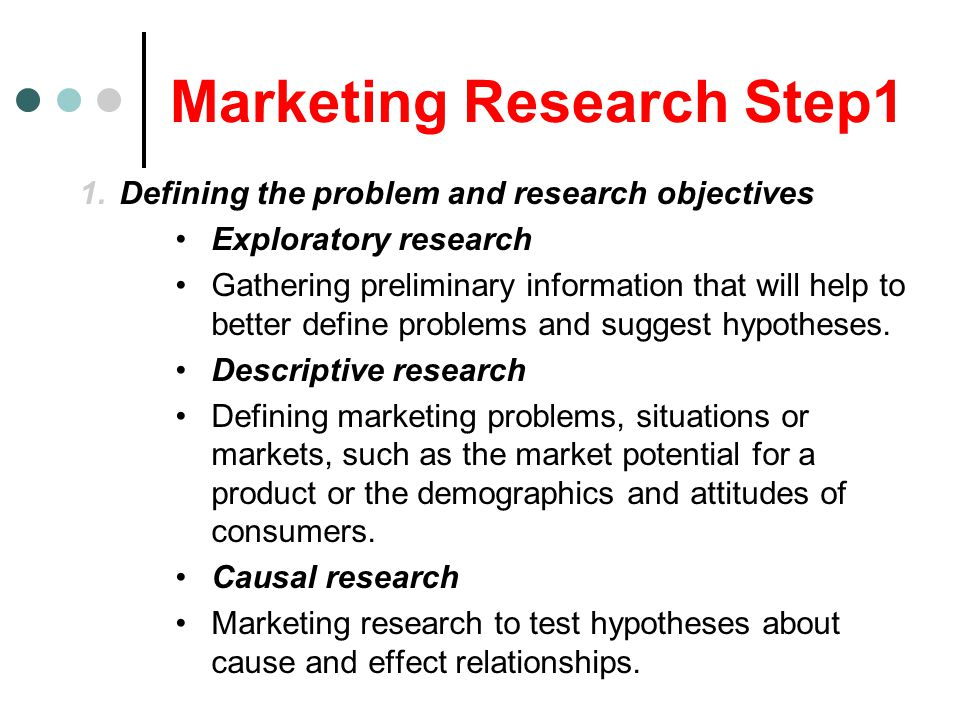 Marketing Research Step1