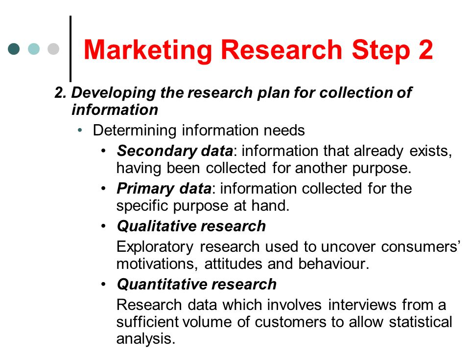 Marketing Research Step 2