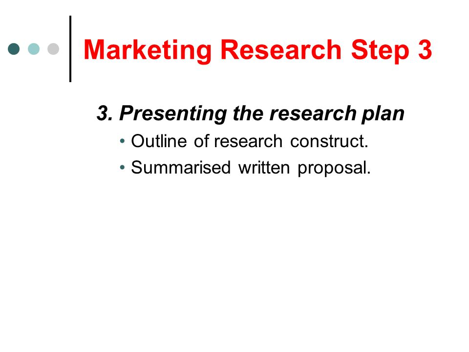 Marketing Research Step 3