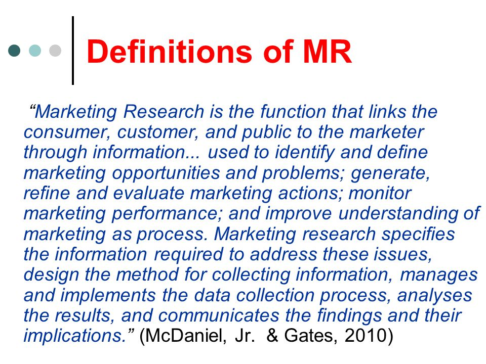 Definitions of MR