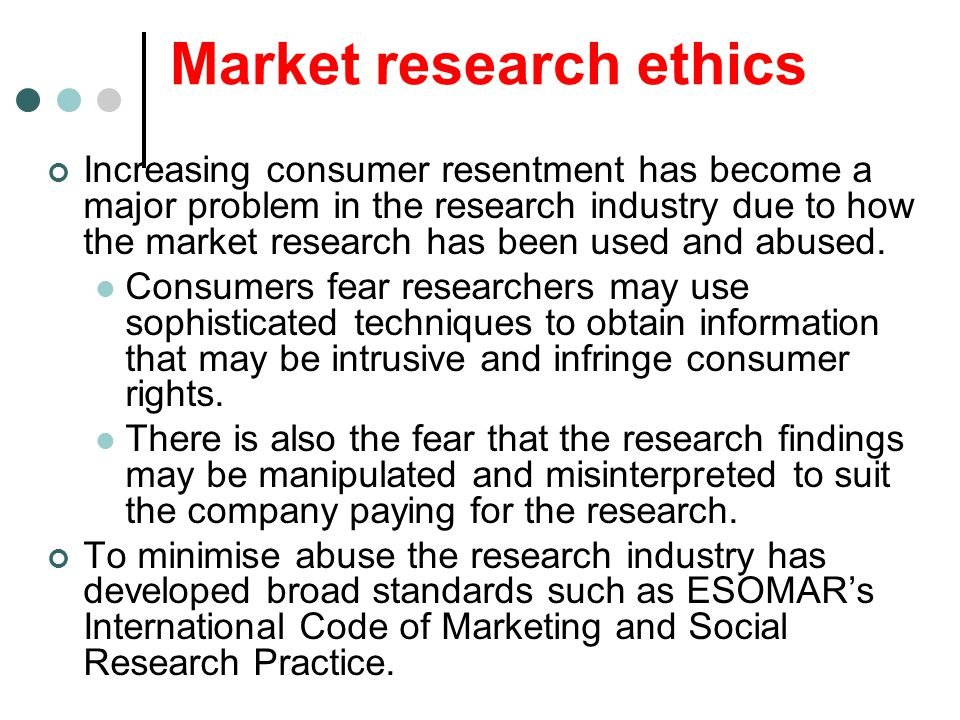 Market research ethics