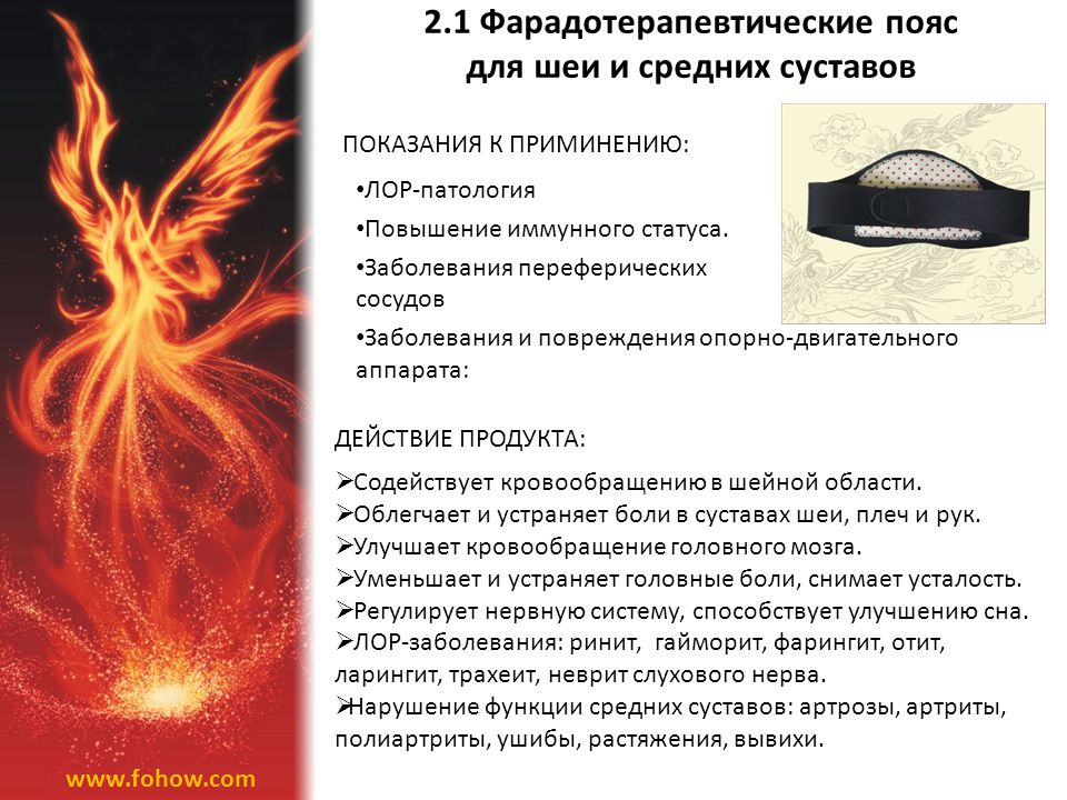 2.1 Фарадотерапевтические пояс для шеи и средних суставов