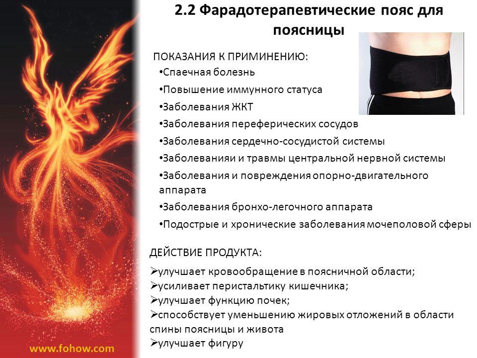 2.2 Фарадотерапевтические пояс для поясницы