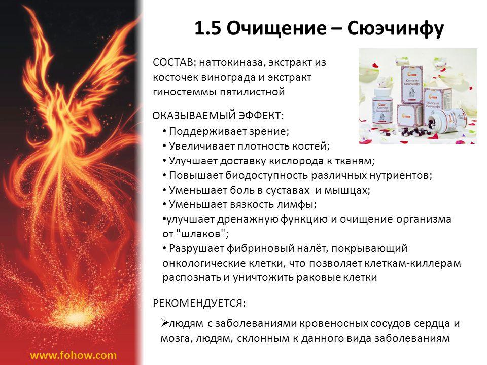 1.5 Очищение – Сюэчинфу СОСТАВ: наттокиназа, экстракт из