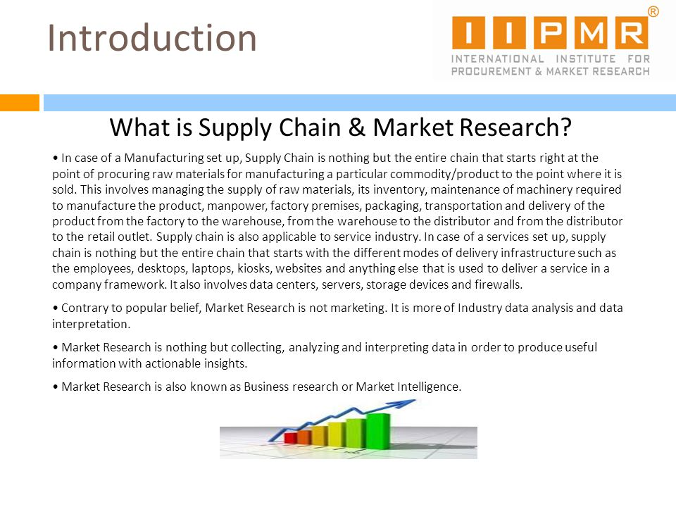 What is Supply Chain & Market Research