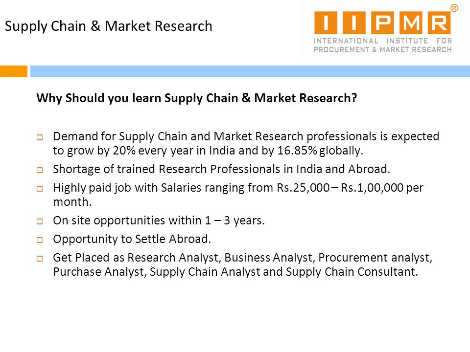 Supply Chain & Market Research