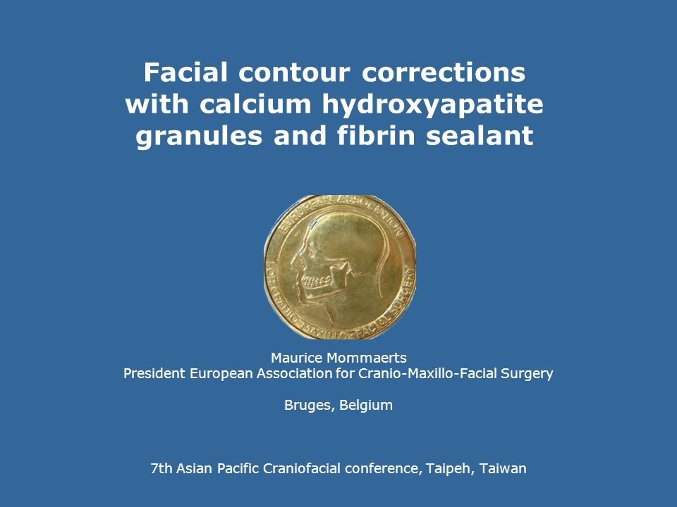 Facial contour corrections with calcium hydroxyapatite granules and fibrin sealant