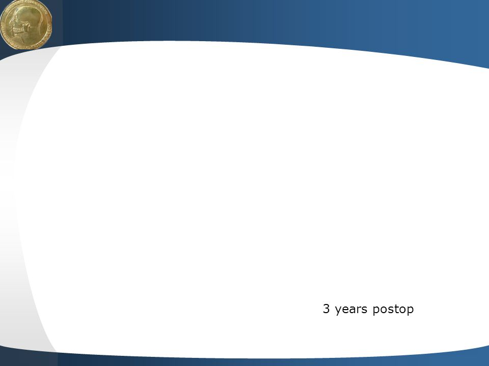 3 years postop