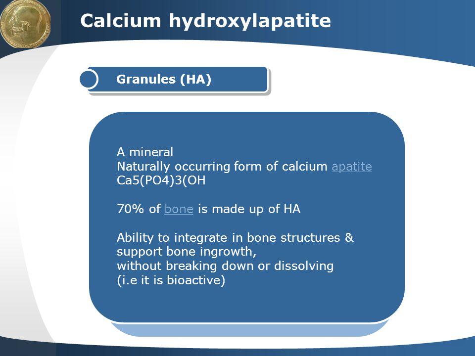 Calcium hydroxylapatite