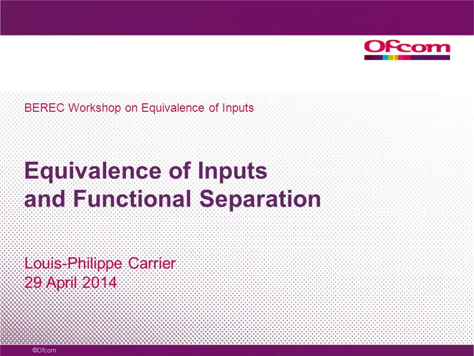 EoI was introduced with Functional Separation