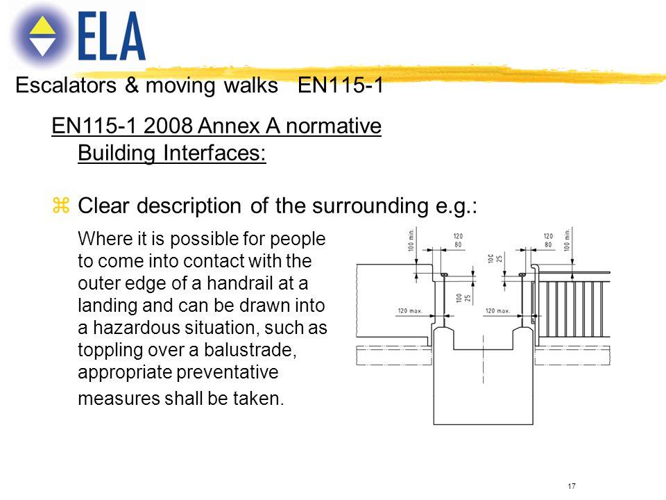 Escalators & moving walks EN115-1