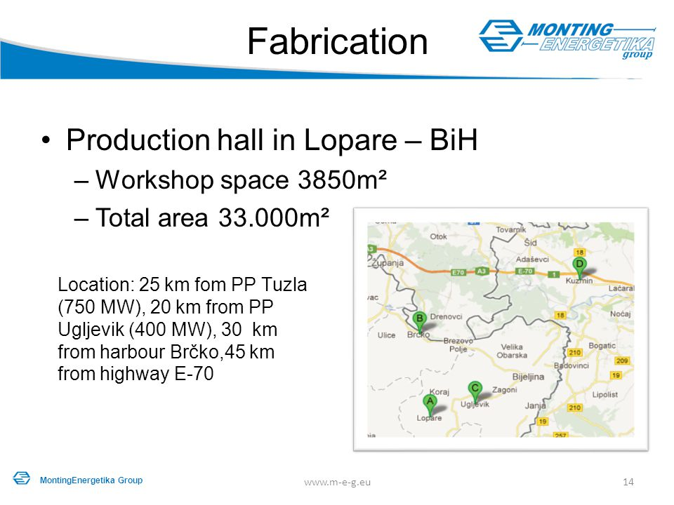 Fabrication Production hall in Lopare – BiH Workshop space 3850m²