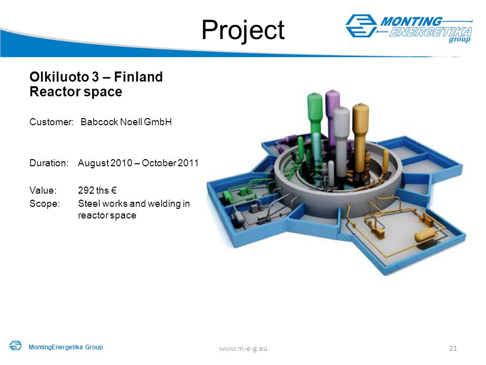 Project Olkiluoto 3 – Finland Reactor space