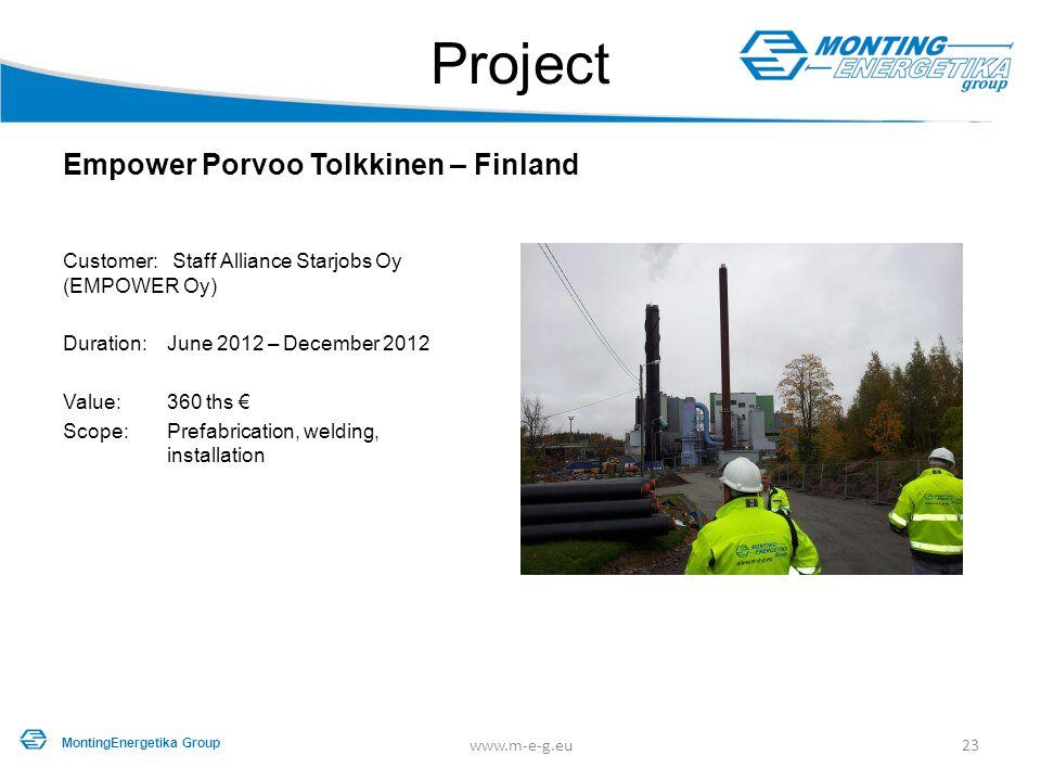 Project Empower Porvoo Tolkkinen – Finland