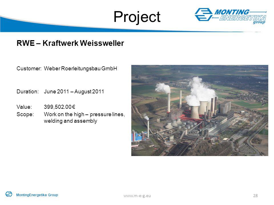 Project RWE – Kraftwerk Weissweller