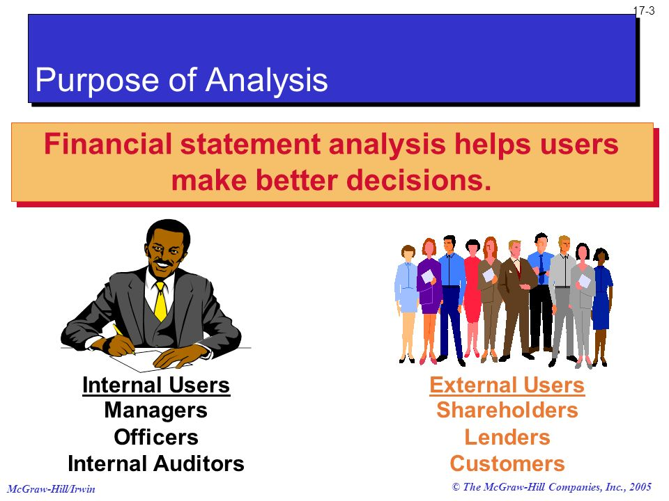 Financial statement analysis helps users make better decisions.
