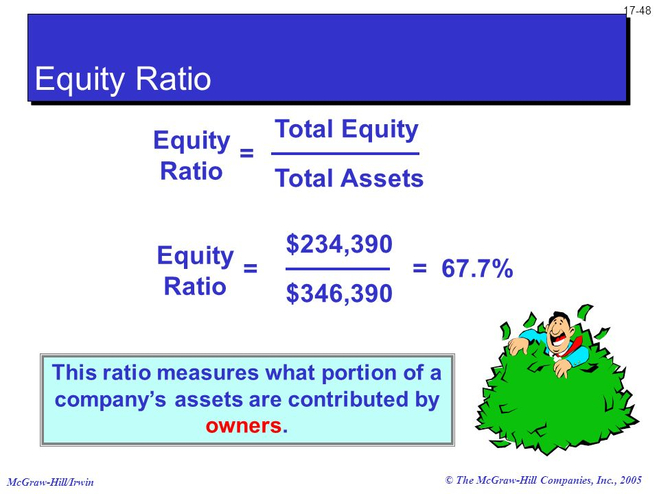Equity Ratio Total Equity Equity Ratio = Total Assets $234,390