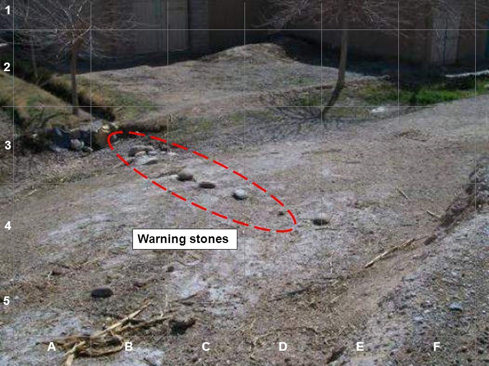 1 2 3 4 Warning stones 5 A B C D E F A