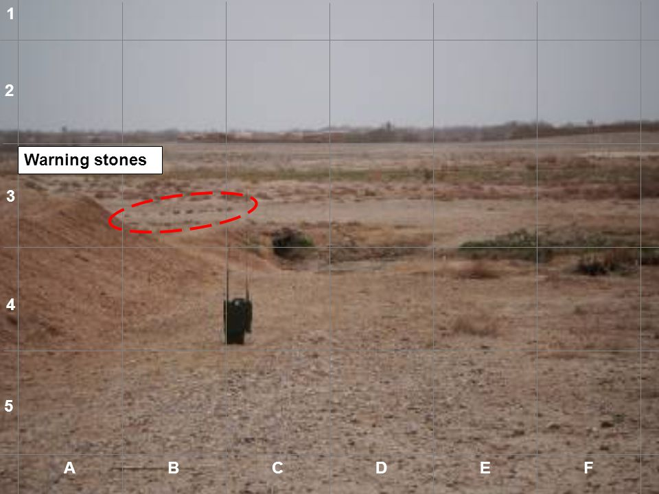 1 2 Warning stones 3 4 5 A B C D E F A