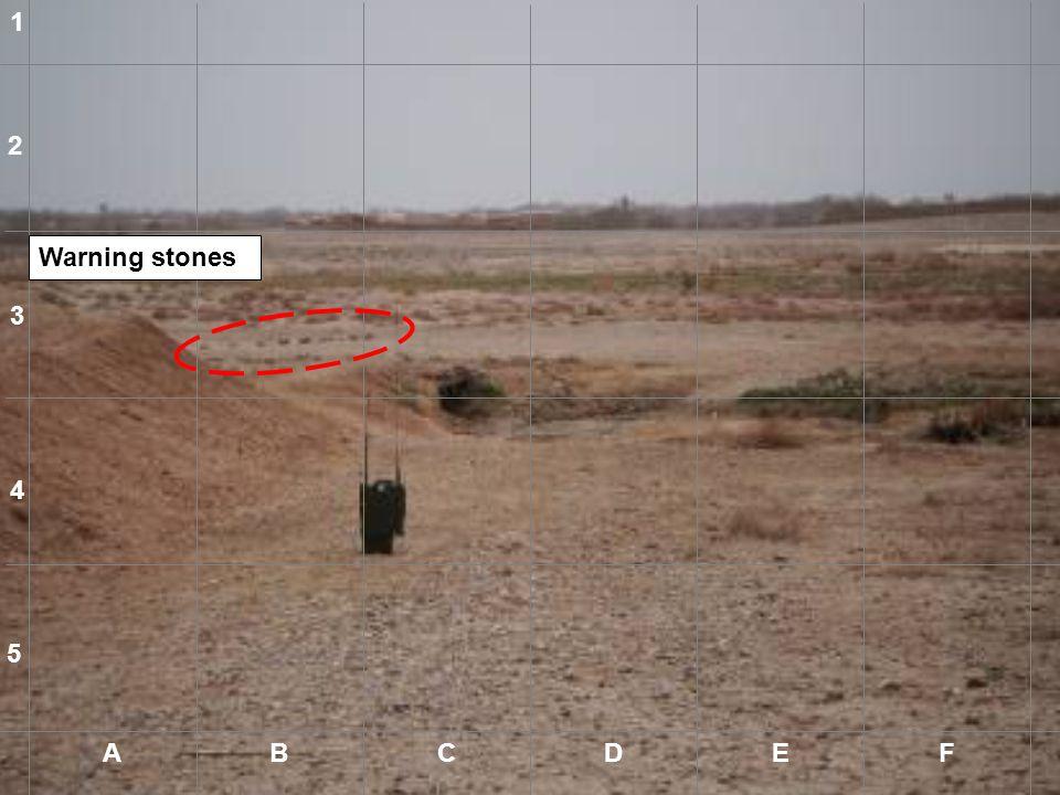 1 2 Warning stones 3 4 5 A B C D E F A