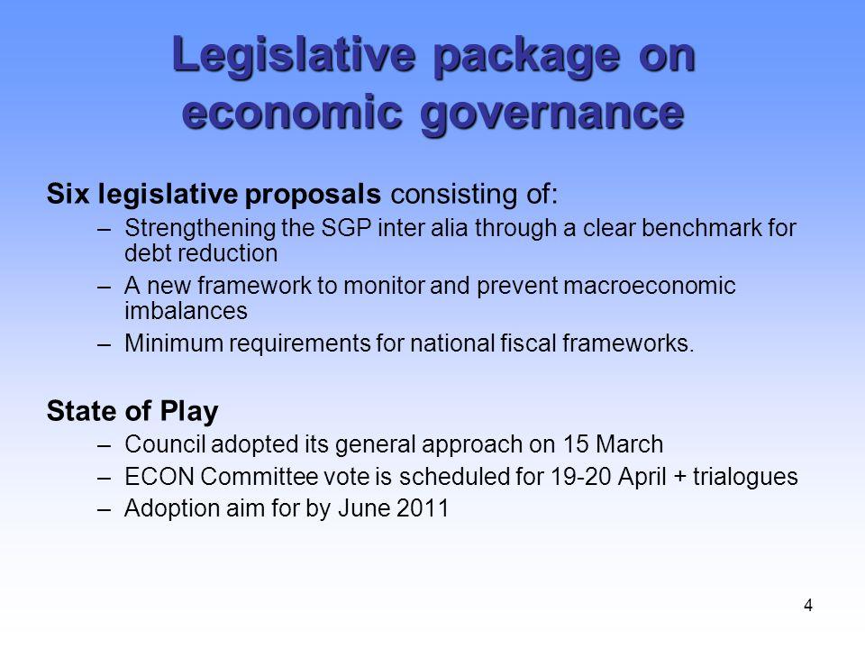 Legislative package on economic governance