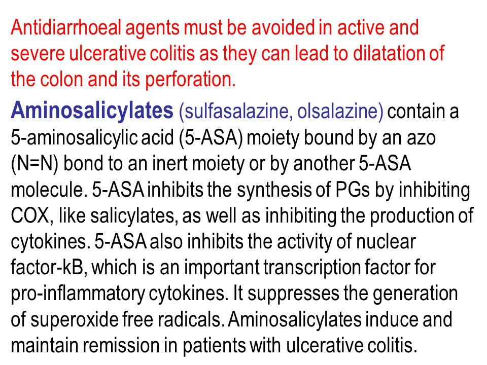 Aminosalicylates (sulfasalazine, olsalazine) contain a