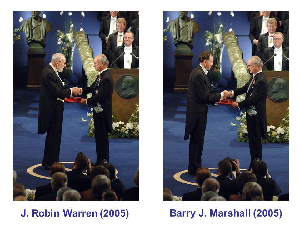 J. Robin Warren (2005) Barry J. Marshall (2005)