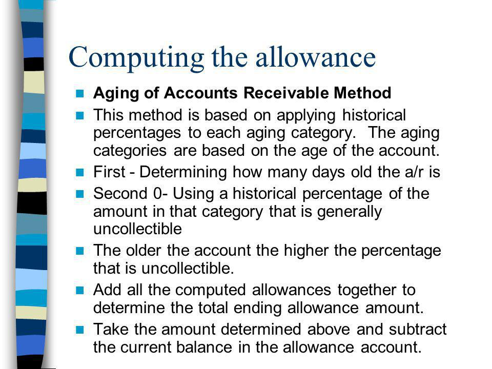 Computing the allowance