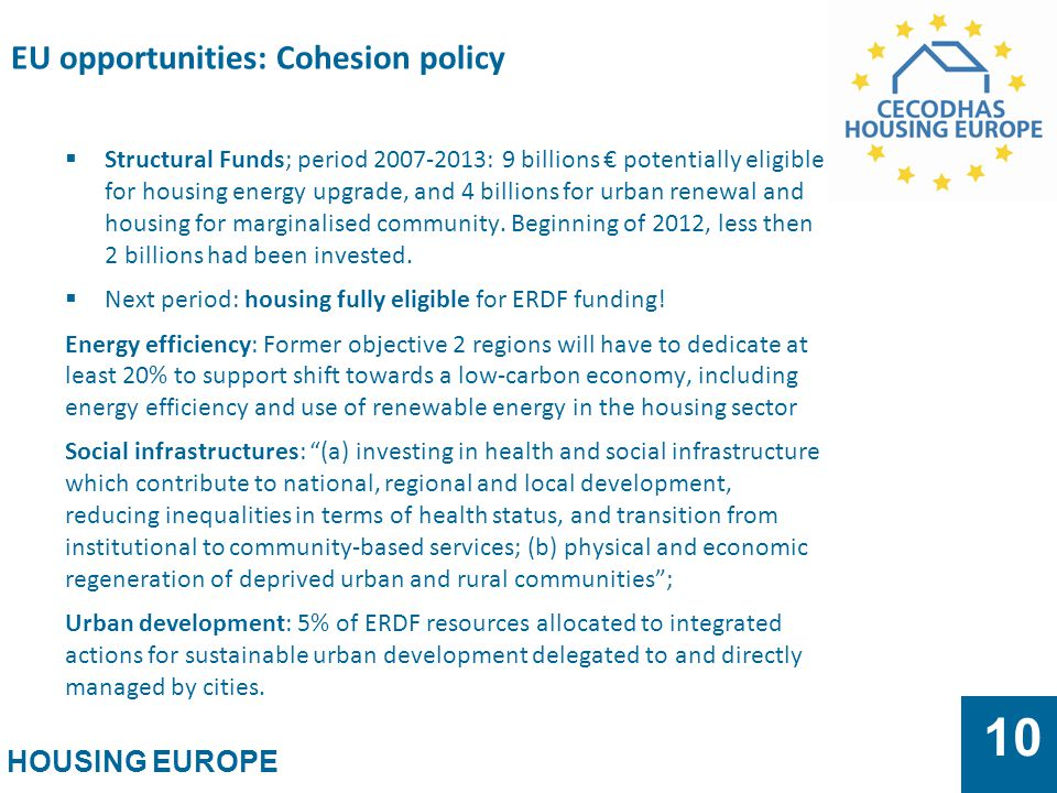 EU opportunities: Cohesion policy