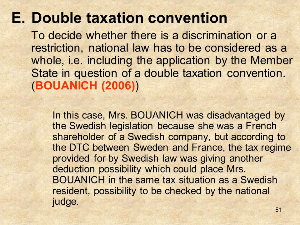 Double taxation convention