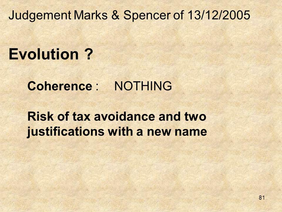 Judgement Marks & Spencer of 13/12/2005